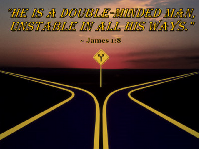 YOU CANNOT BE DOUBLE-MINDED WITH THE APOSTOLIC